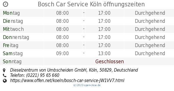 Bosch Car Service Köln öffnungszeiten Dieselzentrum Von Umbscheiden