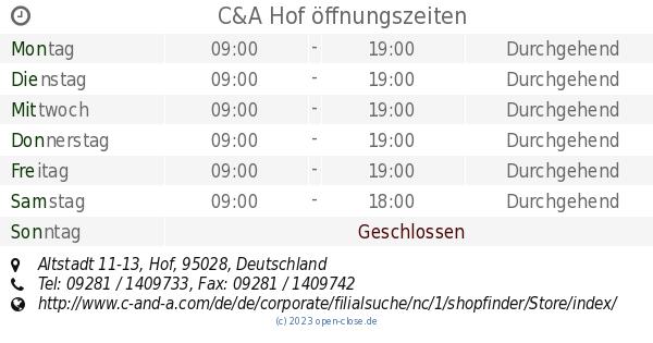 Ca Hof öffnungszeiten Altstadt 11 13