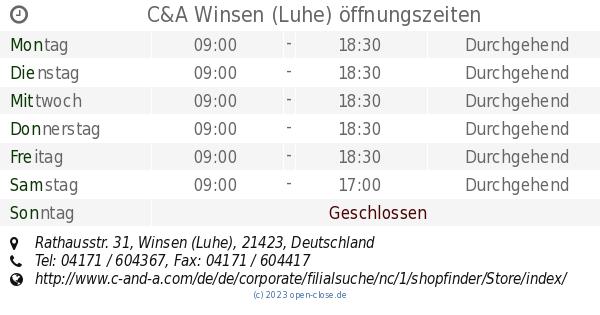 Ca Winsen Luhe öffnungszeiten Rathausstr 31