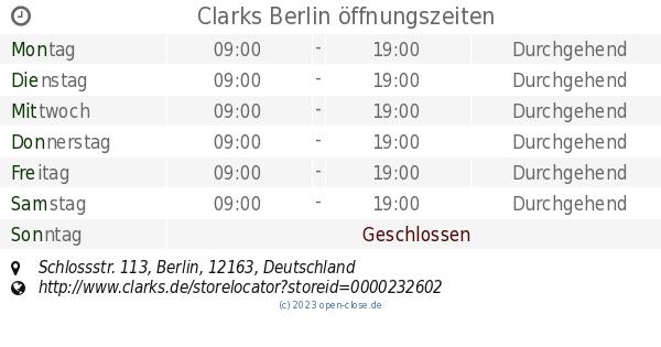 another chance best choice thoughts on Clarks Berlin öffnungszeiten, Schlossstr. 113
