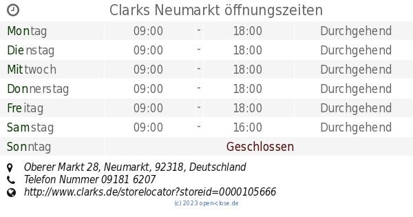Clarks Neumarkt öffnungszeiten, Oberer Markt 28