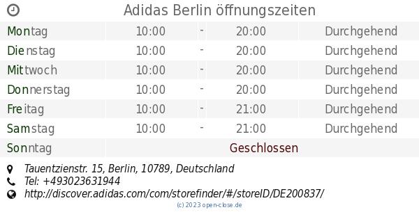 Adidas Berlin öffnungszeiten, Tauentzienstr. 15