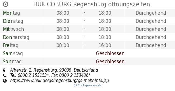 Huk Coburg Regensburg Offnungszeiten Albertstr 2