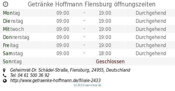 Getränke Hoffmann Flensburg öffnungszeiten, Geheimrat-Dr. Schädel ...