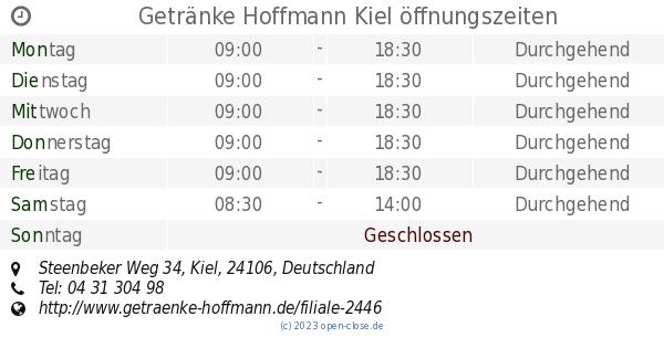 Getränke Hoffmann Kiel öffnungszeiten, Steenbeker Weg 34