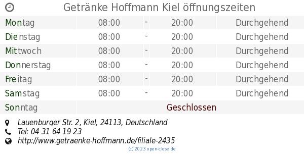 Getränke Hoffmann Kiel öffnungszeiten, Lauenburger Str. 2