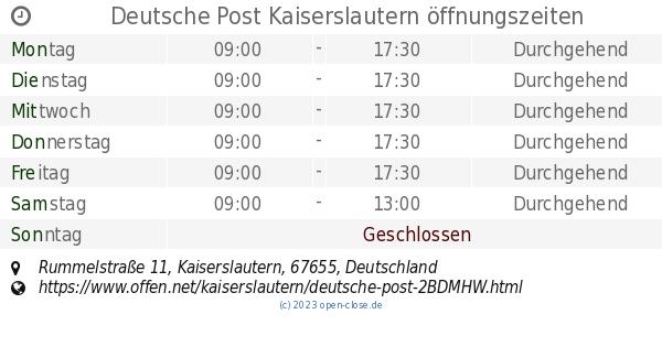 Deutsche Post Kaiserslautern : deutsche post kaiserslautern ffnungszeiten rummelstra e 11 ~ Watch28wear.com Haus und Dekorationen