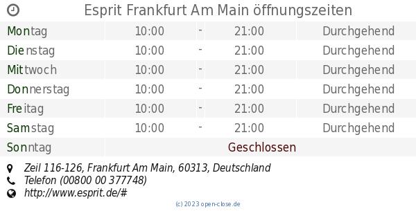 Esprit Frankfurt Am Main öffnungszeiten, Zeil 116-126