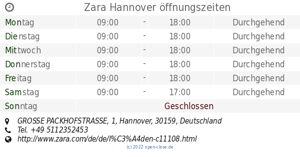 Zara Hannover Wiedereröffnung