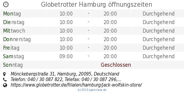 Globetrotter Hamburg öffnungszeiten Mönckebergstraße 31