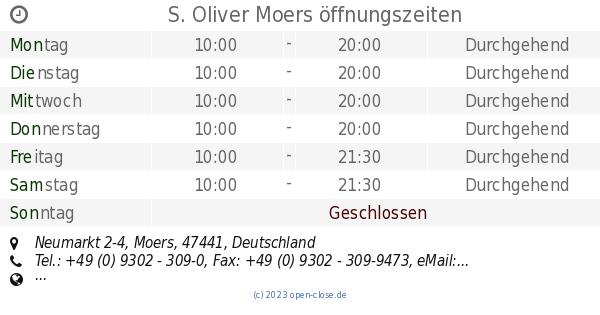 attraktive Farbe Outlet-Boutique beste Auswahl von 2019 S. Oliver Moers öffnungszeiten, Neumarkt 2-4