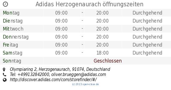 Adidas Herzogenaurach öffnungszeiten, Olympiaring 2