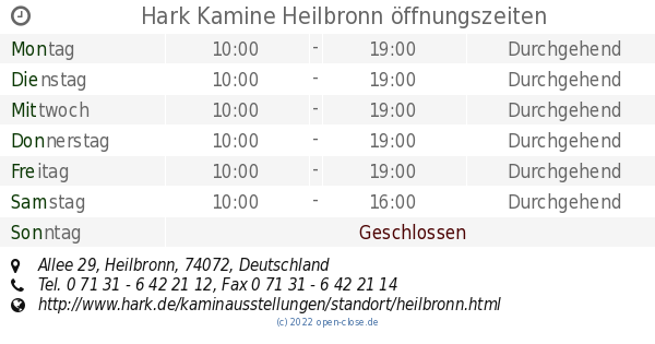 Hark Kamine Heilbronn Offnungszeiten Allee 29