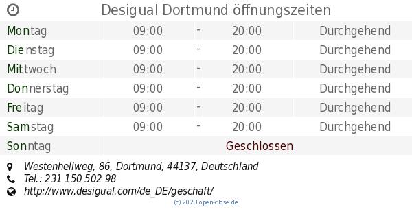 Tiefstpreis günstig kaufen heiße Angebote Desigual Dortmund öffnungszeiten, Westenhellweg, 86