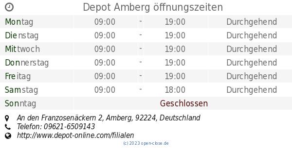 Depot Amberg öffnungszeiten An Den Franzosenäckern 2