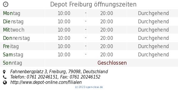 Depot Freiburg öffnungszeiten Fahnenbergplatz 3