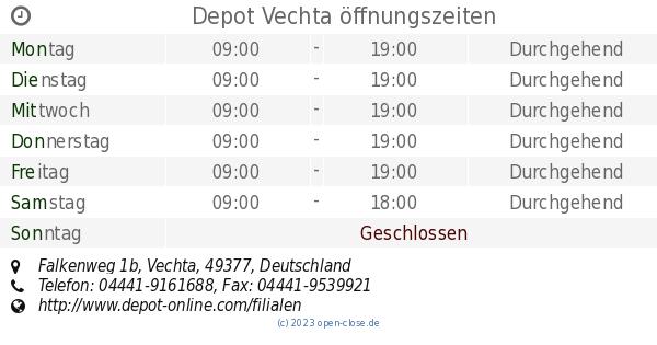 Depot Vechta öffnungszeiten Falkenweg 1b