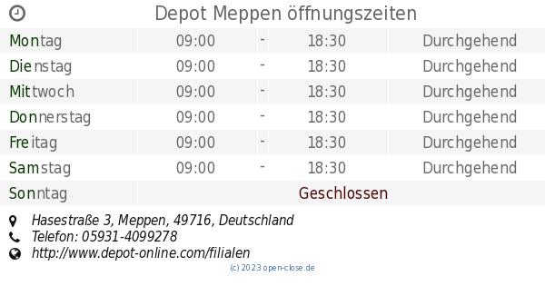 Depot Meppen öffnungszeiten Hasestraße 3