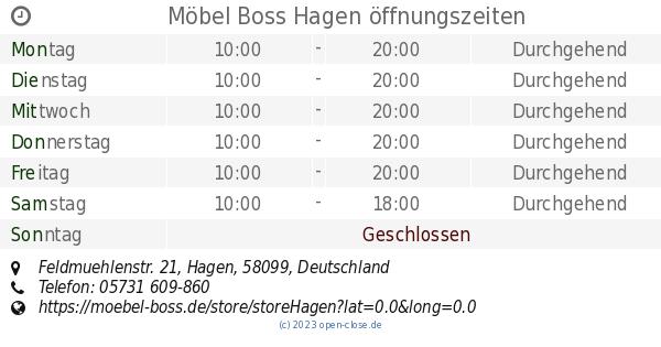 Möbel Boss Hagen öffnungszeiten Feldmuehlenstr 21