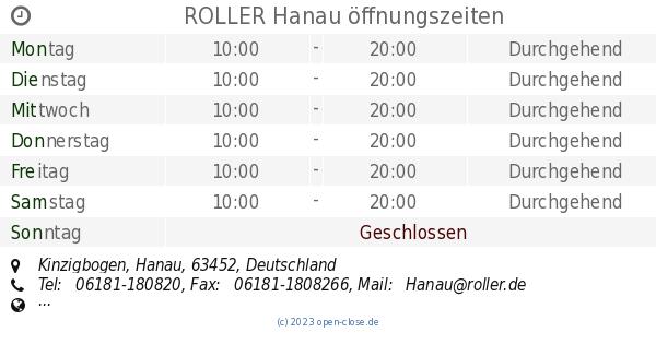 Roller Hanau öffnungszeiten Kinzigbogen