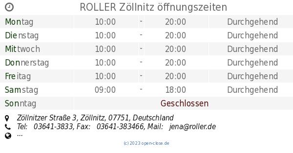 Roller Zollnitz Offnungszeiten Zollnitzer Strasse 3