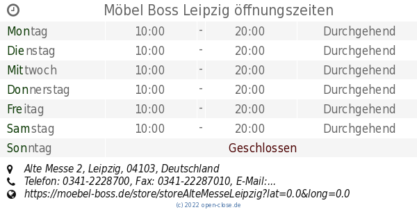 Möbel Boss Leipzig öffnungszeiten, Alte Messe 2