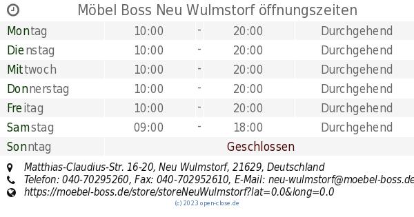 Möbel Boss Neu Wulmstorf öffnungszeiten Matthias Claudius Str 16 20