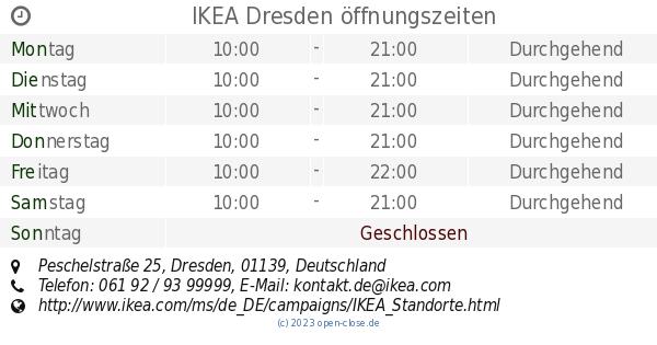 Ikea Dresden Offnungszeiten Peschelstrasse 25