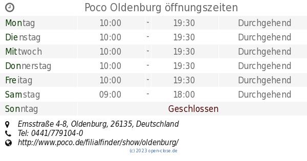Poco Oldenburg öffnungszeiten, Emsstraße 4-8