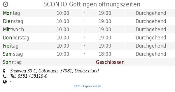 Sconto Göttingen öffnungszeiten Siekweg 30 C