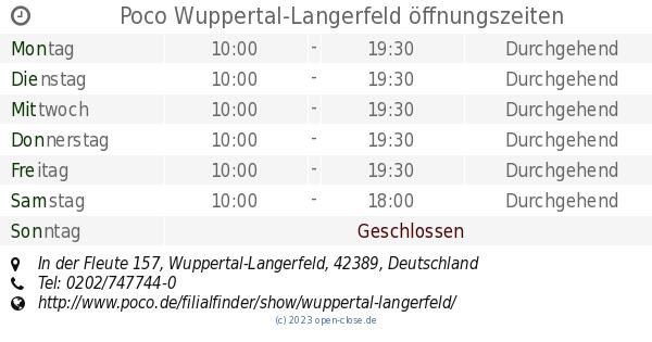Poco Wuppertal Langerfeld Offnungszeiten In Der Fleute 157