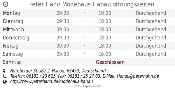 to buy in stock sale Peter Hahn Modehaus Hanau öffnungszeiten, Nürnberger Straße 2