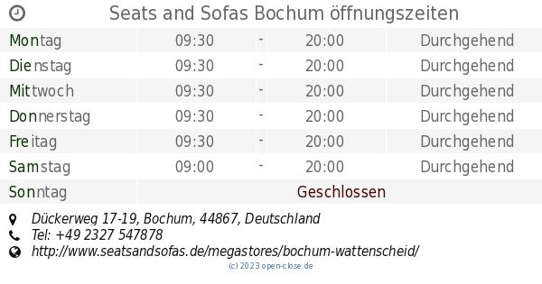Seats and Sofas Bochum öffnungszeiten, Dückerweg 17-19
