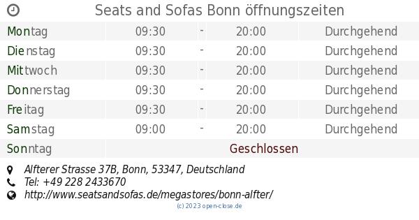 Seats and Sofas Bonn öffnungszeiten, Alfterer Strasse 37B