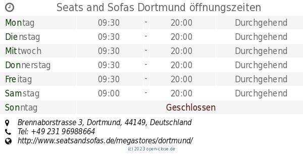 seats and sofas dortmund öffnungszeiten, brennaborstrasse 3