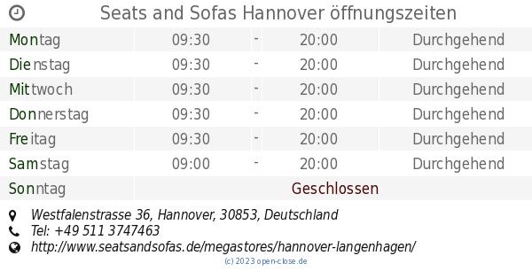 Seats And Sofas Hannover öffnungszeiten Westfalenstrasse 36