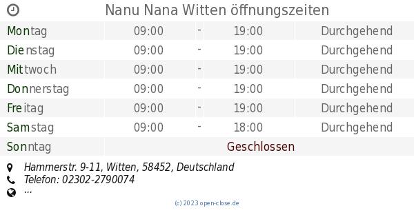 Nanu Nana Witten öffnungszeiten Hammerstr 9 11