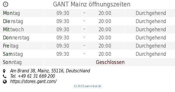 Gant Mainz 38 Brand Mainz ÖffnungszeitenAm 38 Gant Brand Gant ÖffnungszeitenAm 3qAR54jL