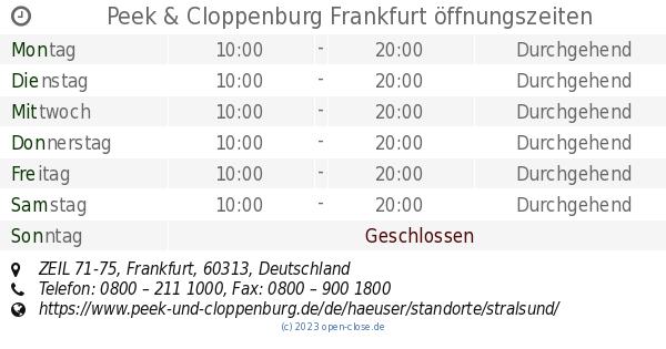 72ac98460686a6 Peek   Cloppenburg Frankfurt öffnungszeiten