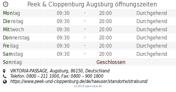 9031240199c4af Peek   Cloppenburg Augsburg öffnungszeiten