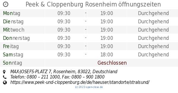 ca42c8142783e6 Peek   Cloppenburg Rosenheim öffnungszeiten