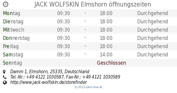 nice cheap super quality in stock JACK WOLFSKIN Elmshorn öffnungszeiten, Damm 1