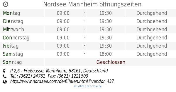 nordsee mannheim