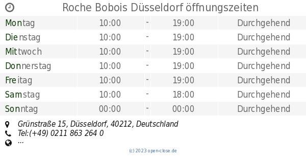 Roche Bobois Düsseldorf öffnungszeiten Grünstraße 15