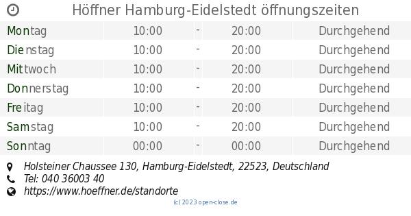 Höffner Hamburg Eidelstedt öffnungszeiten Holsteiner Chaussee 130